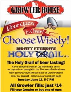 Holy Grail Ale Beer Tasting