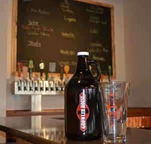 Growler On Bar at Growler House
